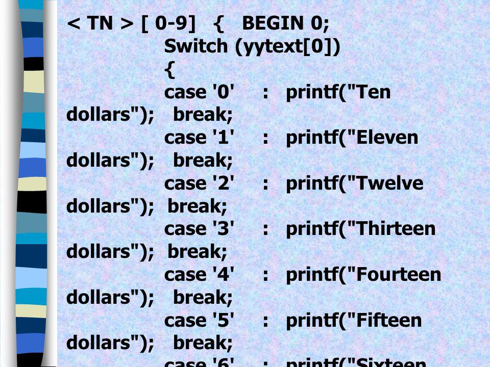 < TN > [ 0-9] { BEGIN 0;